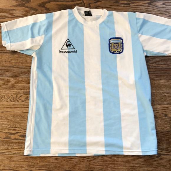 648af55cdbc Le Coq Sportif Shirts | Classic Argentina Jersey | Poshmark